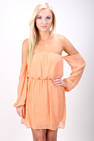 Selena Dress in Peach