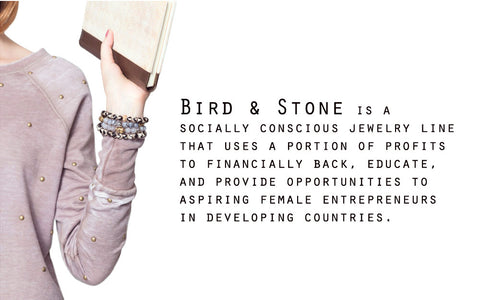 bird & stone handmade jewelry for a cause