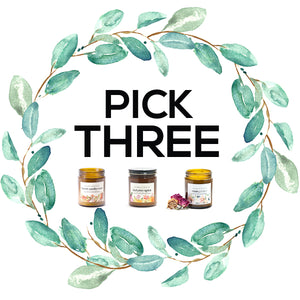 pick three: soy candles