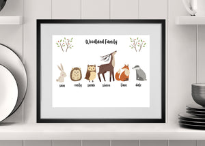 NEW Personalised Forest Family