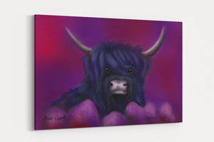 HAMISH IN BLUE A4 Canvas Print