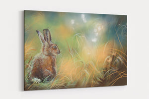 LEVERET AND THE FAIRIES A4 Canvas Print