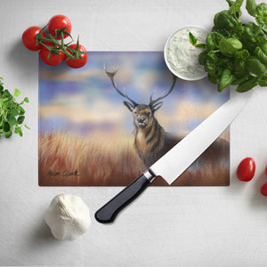 Monarch of the peaks Glass Chopping Board