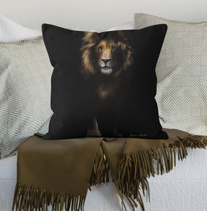 Cushion Out of the Shadows Lion