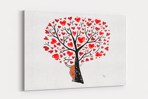 A4 Canvas Print Secret Love