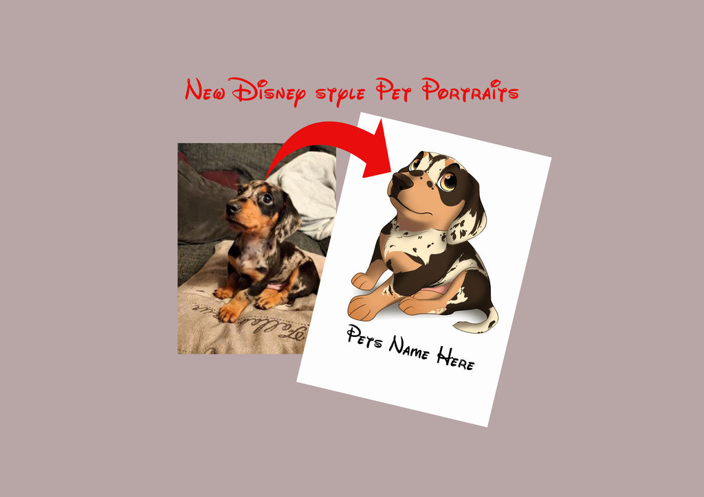 Disney Style Pet Portrait