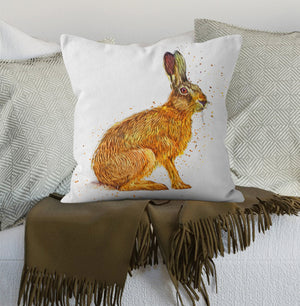 Cushion Autumn Hare