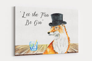 A2 Canvas Let the fun be gin