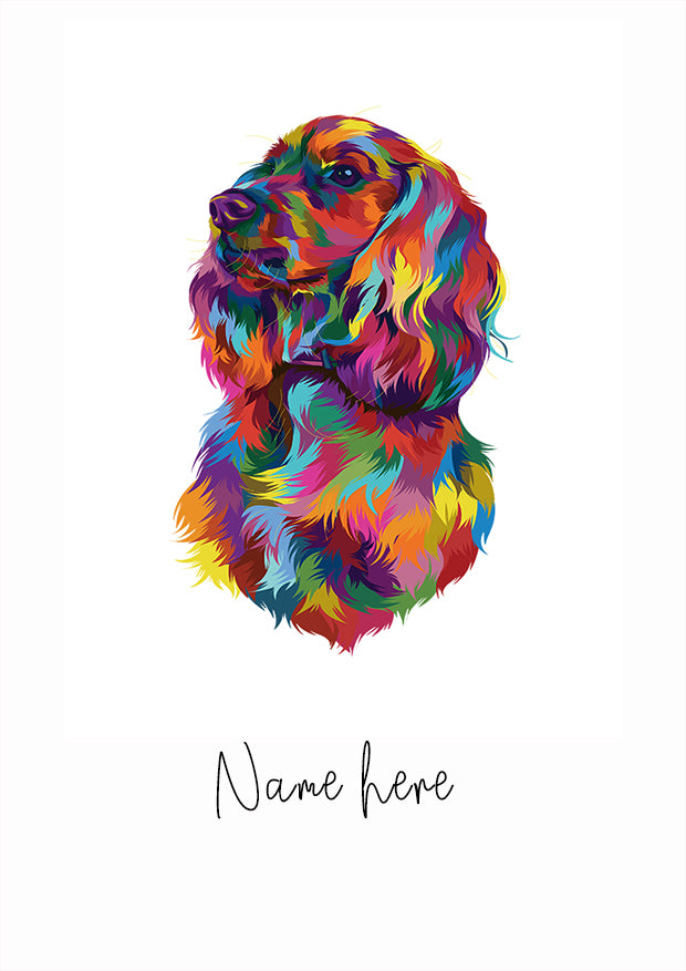 Colour Splash Pet Portrait with Name
