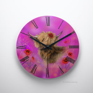 Clock Poppy in Pink