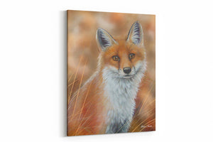 A4 Canvas Print Spring Fox