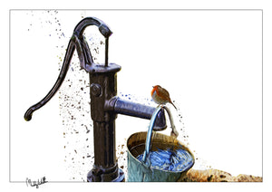 A4 Art Print The Old Pump