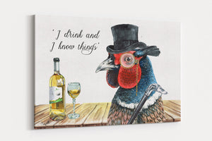 Tipsy Tarquil A4 Canvas Print