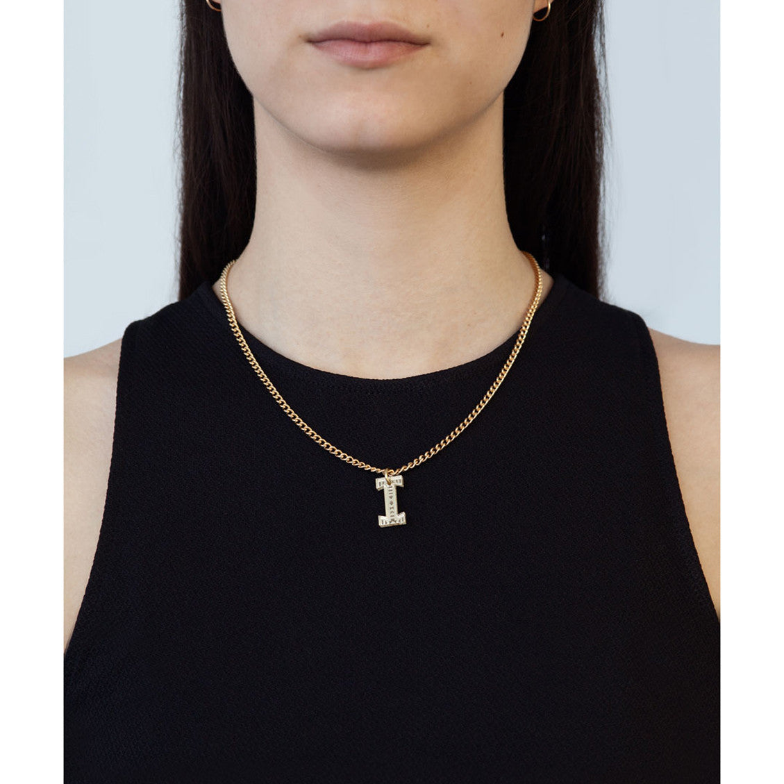 Tribal Letter necklace - I