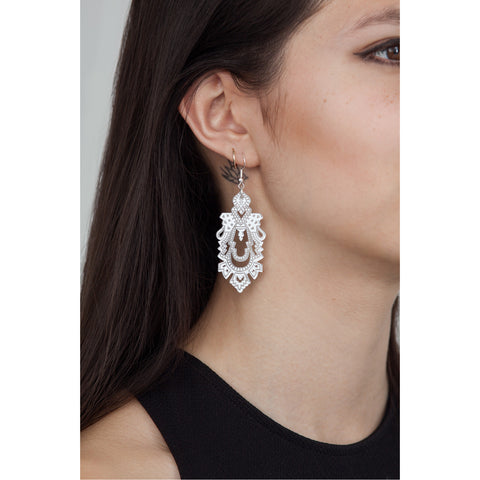 Mini Palace Earrings - Silver