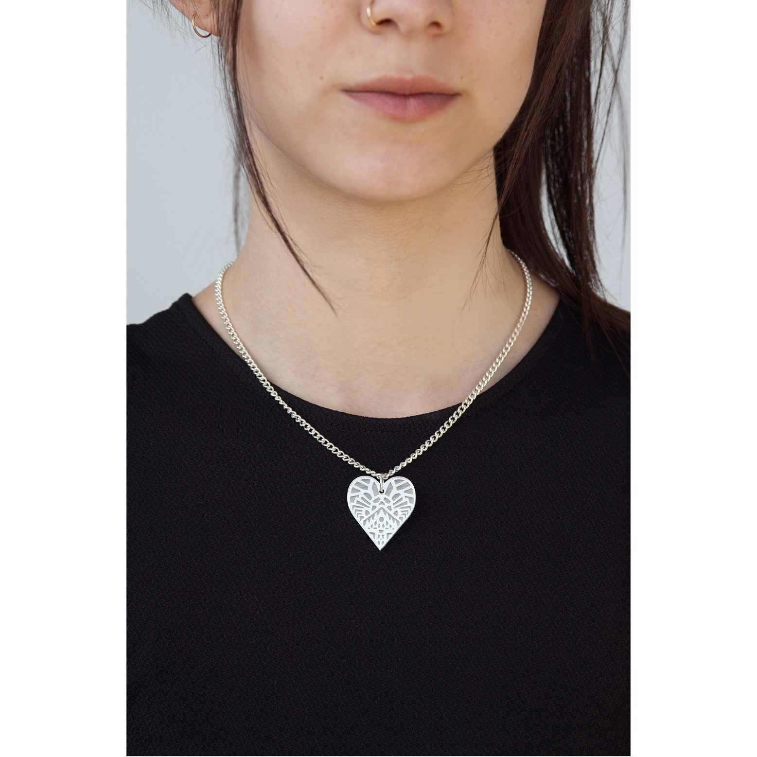 Temple Of Love Necklace - Silver
