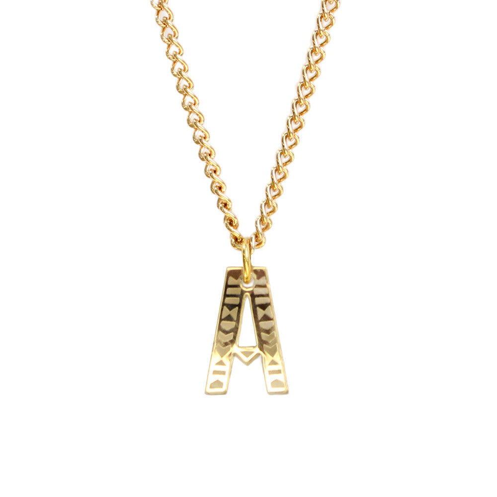 Tribal Letter necklace - A