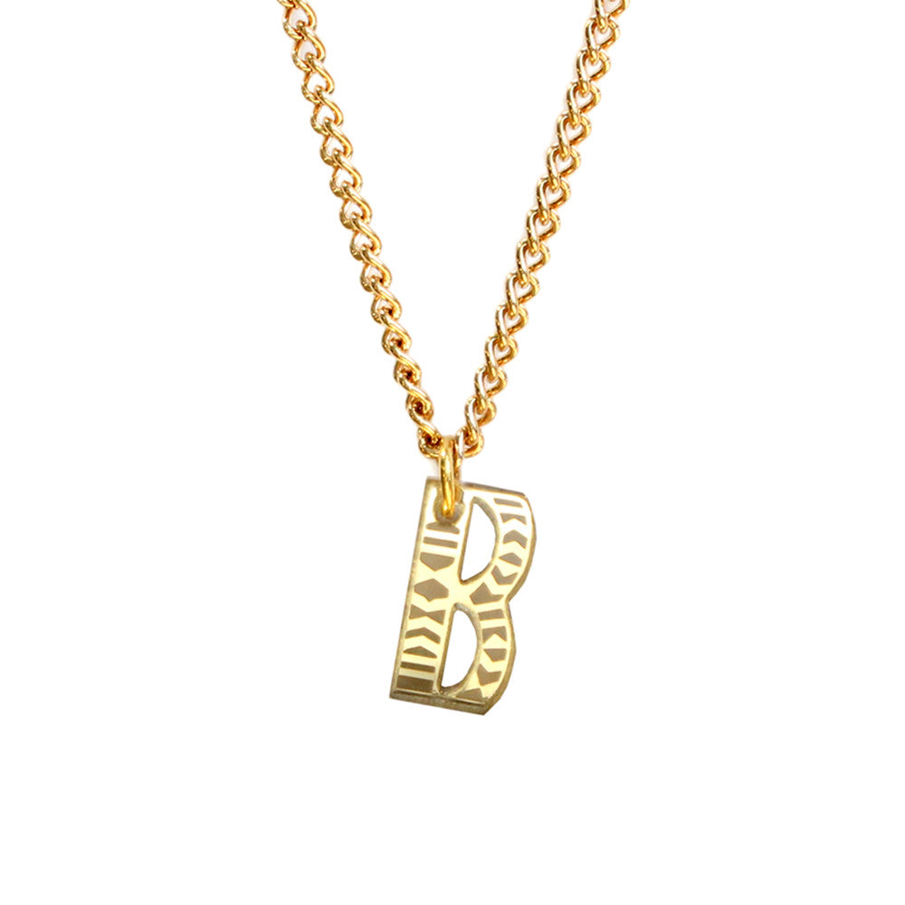 Tribal Letter necklace - B