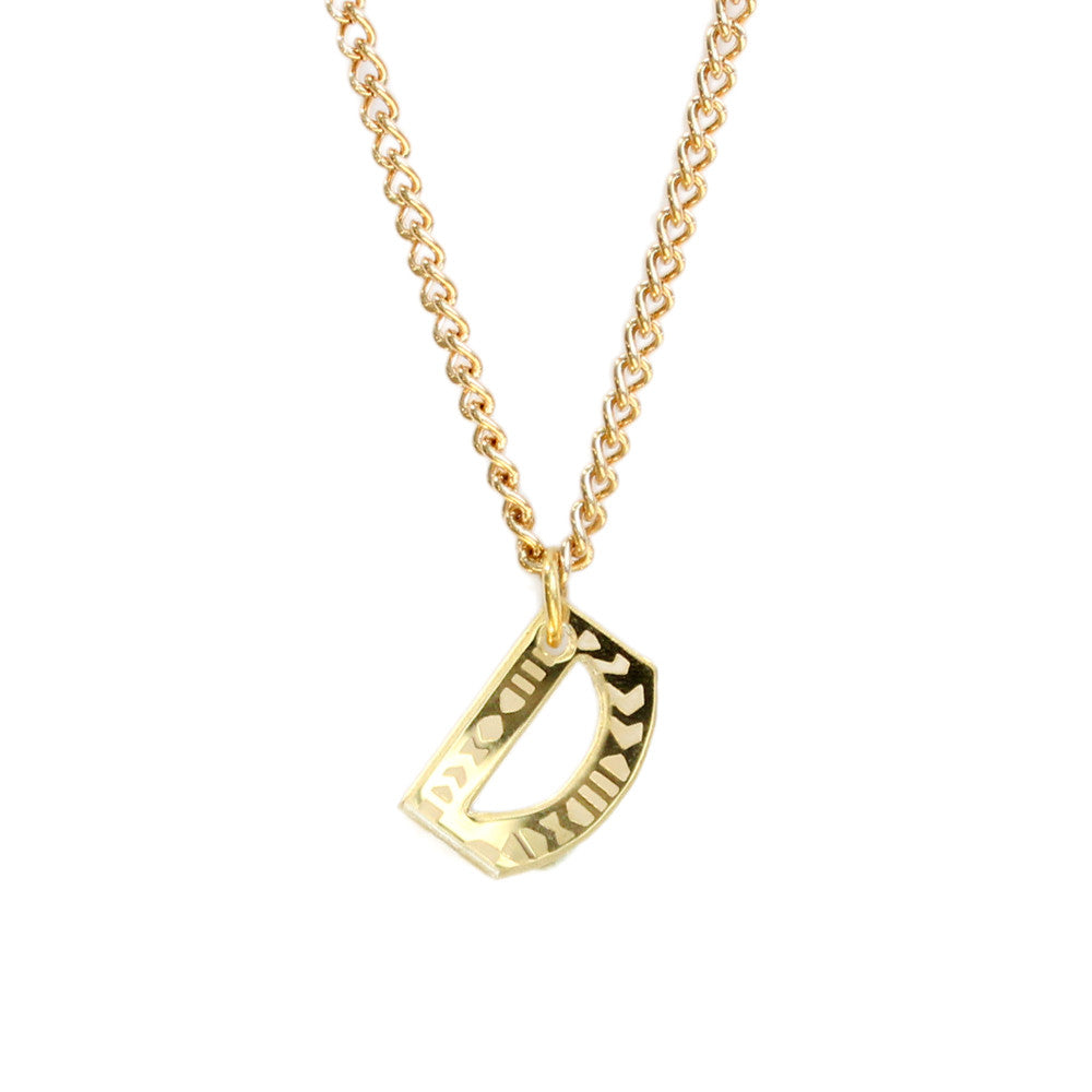 Tribal Letter necklace - D