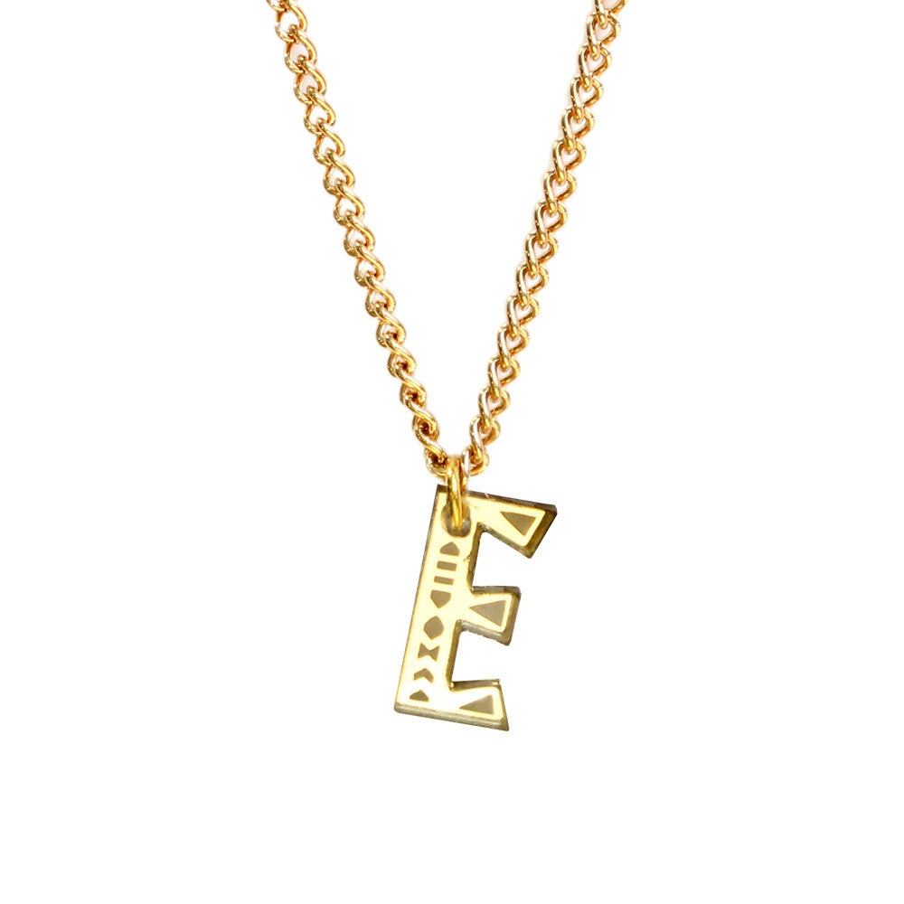 Tribal Letter necklace - E