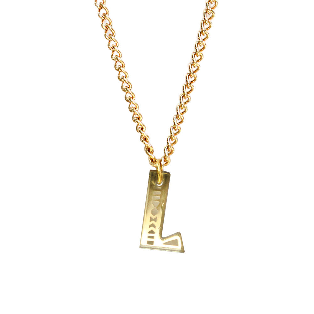 Tribal Letter necklace - L