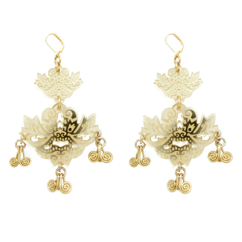 Yamaraja Earrings - Gold