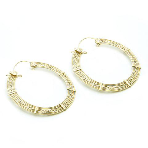Water Spirit Hoop Earrings