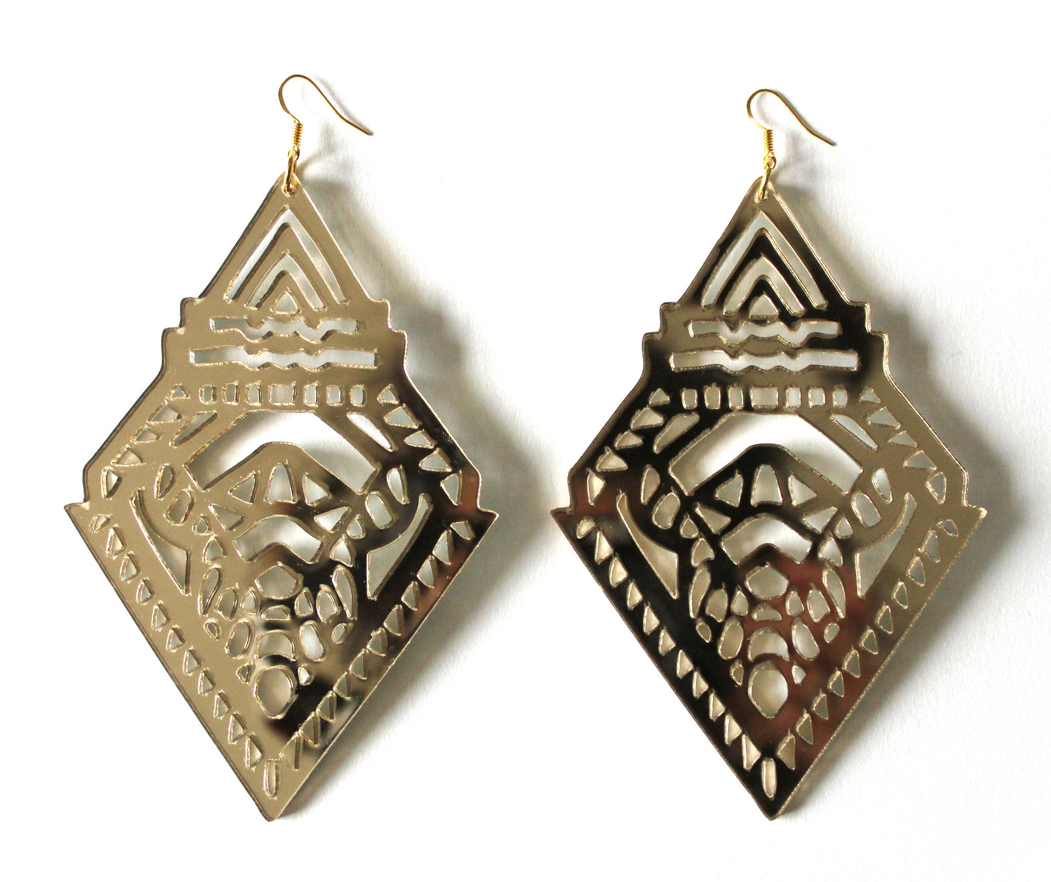 Tribal Diamond Earrings