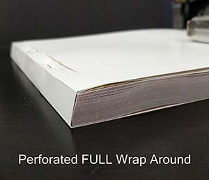 Perforated FULL Wrap Around Book