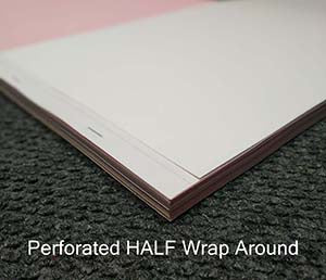 Perforated HALF Wrap Around Book