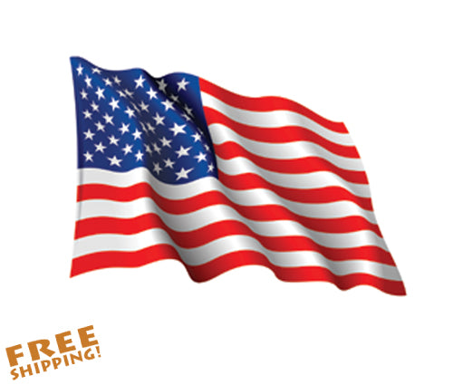 "U.S. FLAG WAVING 36"" X-Large Cut-out Vinyl Sticker"