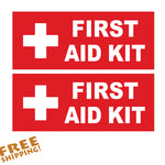 "FIRST AID KIT Red or Green 6"" - 2 Pack Novelty Business"
