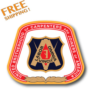 "CARPENTERS Union 4"" Vinyl Sticker"