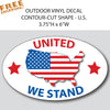 "U.S. FLAG NATION OVAL 6"" Vinyl Sticker"