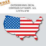 "U.S. FLAG NATION 6"" Vinyl Sticker"