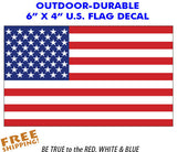 "American Flag Sticker - Standard 6"" - Outdoor"