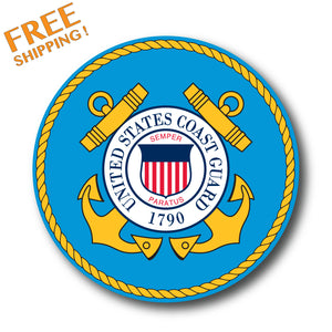 "COAST GUARD CIRCLE 4"" Vinyl Sticker"