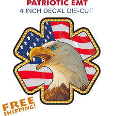 EMT Eagle Star Sticker - 1 piece