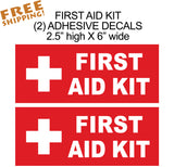 FIRST AID KIT Sticker 6in 2 pieces - Novelty - Business
