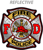 "FIRE POLICE 4"" Reflective Vinyl Sticker"