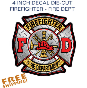 "FIREFIGHTER 4"" or 8"" Vinyl Sticker"