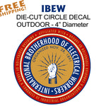 "IBEW UNION CIRCLE 4"" - 3 Pack Vinyl Stickers Business"