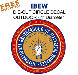 "IBEW Union 4"" Vinyl Sticker"