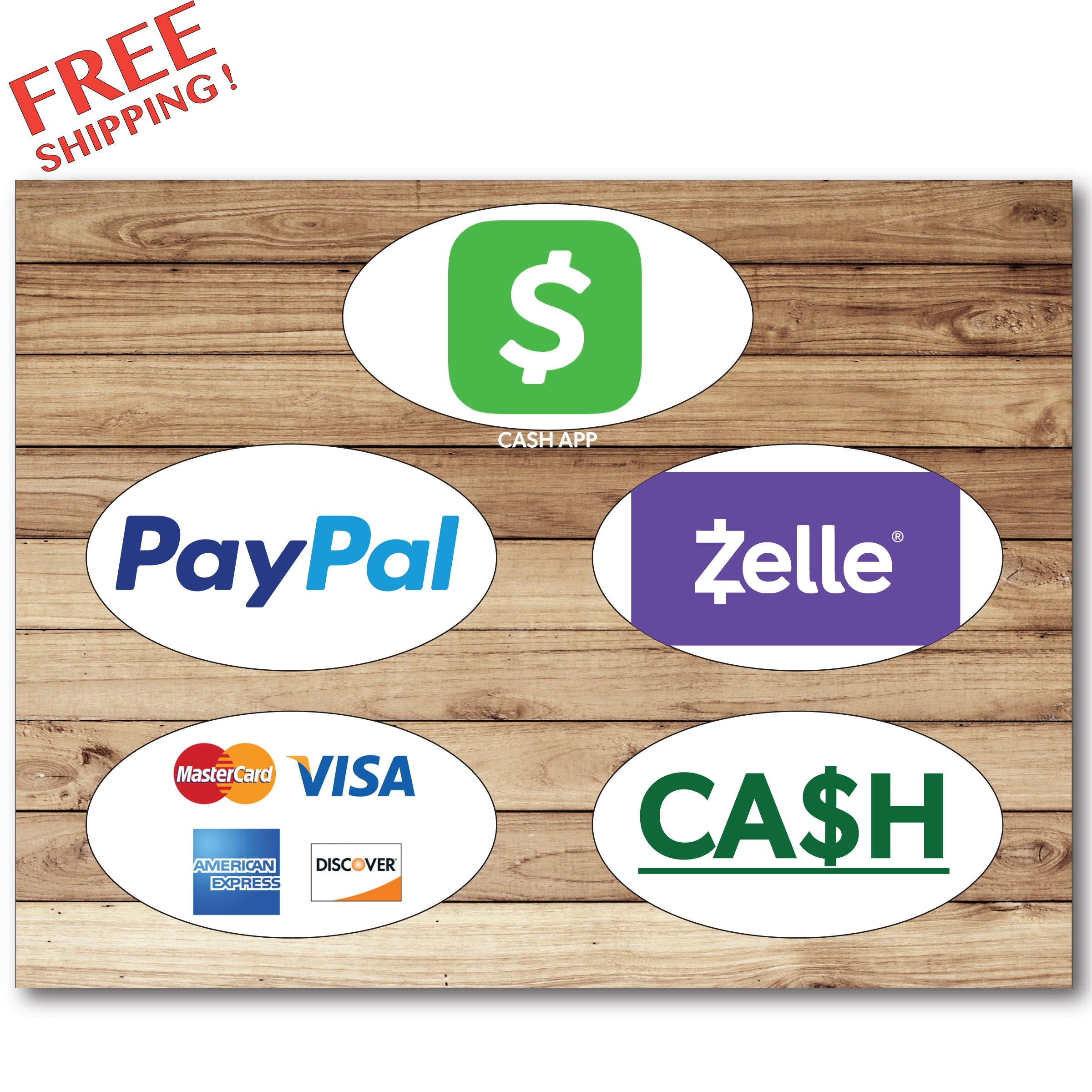 "PAYMENT METHODS - 10"" or 14"" - Rigid Sign Business"