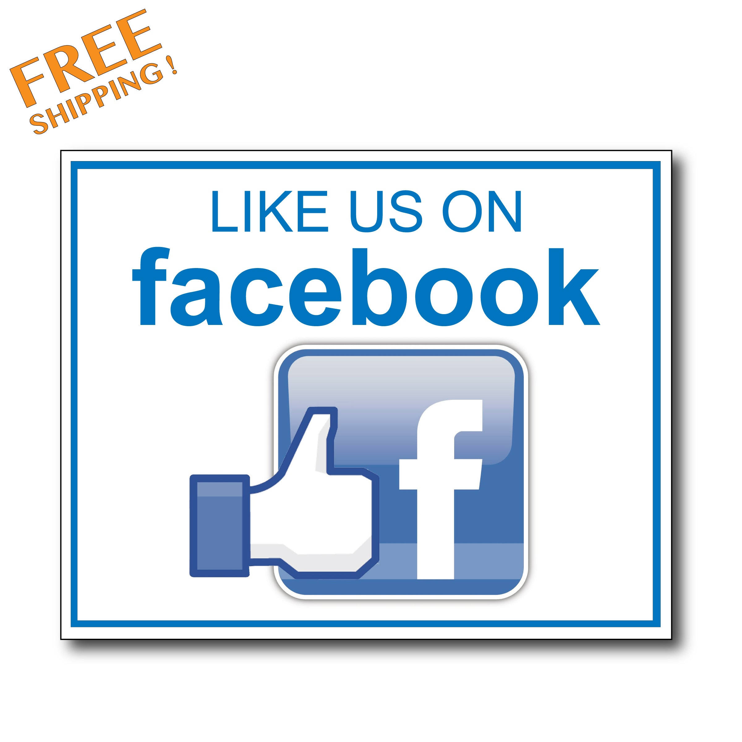 "LIKE US ON FACEBOOK 8"" v1 - Vinyl Stickers Business"