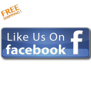 "LIKE US ON FACEBOOK 8"" v2 - Vinyl Stickers Business"