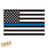 "THIN BLUE LINE FLAG 6"" Vinyl Sticker"