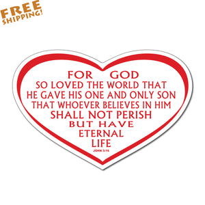 "John 3:16 RED 6"" JESUS BELIEVE"