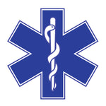"STAR OF LIFE 4""/6""/32"" Reflective Vinyl Sticker EMS EMT"