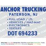 "CUSTOM TRUCK LETTERING 16x24"" Pair - 1 set Cut-out Vinyl Lettering Sign"
